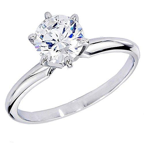 Dazzlingrock Collection IGI Certified 2 Carat (ctw) 14K Round Diamond Bridal Solitaire Ring 2 CT, White Gold, Size 8.5 (2ct Rings Diamond Engagement)