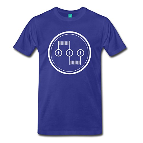 Spreadshirt Men's Dual Coil RDA T-Shirt, royal blue, L