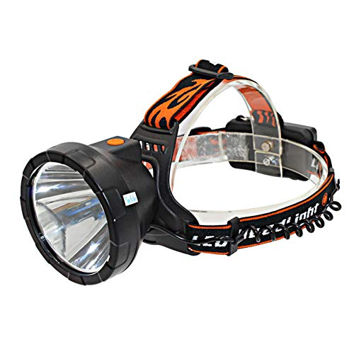 YAXuan Torch Head New LED Headlights T6 Lamp Beads DC Interface Outdoor Strong Head-Mounted Miner's Lamp 18650 with Lampshade for Outdoor Camping Fishing Hiking headlamp