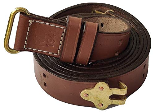 WARCRAFT EXPORTS WW2 US Army Rifle M1 Garand Leather Sling Springfield Rifle Sling Tan Color