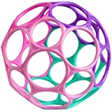 Bright Starts Oball Classic Easy-Grasp Toy, Pink/Purple