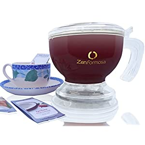 Zen Formosa Tea Maker for Loose Leaf and Coffee Instant Brew Flower Chai Perfect Teapot with Infuser