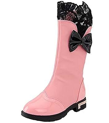 Amazon.com: DADAWEN Girl's Waterproof Lace Bowknot Side
