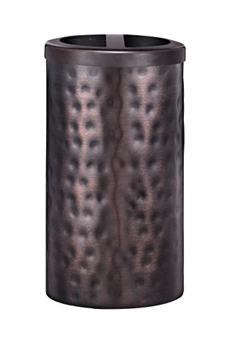 Five Queens Court Parker Metal Bathroom Accessories Collection - Toothbrush Holder - In Silver or Oil Rubbed Bronze (Rubbed Oil Bronze Tumbler Holder)