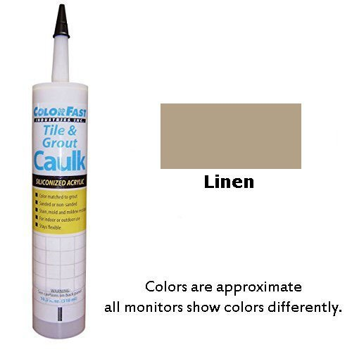 Color Fast Colored Caulk to Match Hydroment Sanded - 20 Colors Available (Linen)