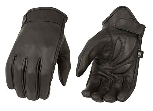 (Milwaukee Leather Men's Premium Leather Short Cruiser Gloves, Black MG7510 (L))
