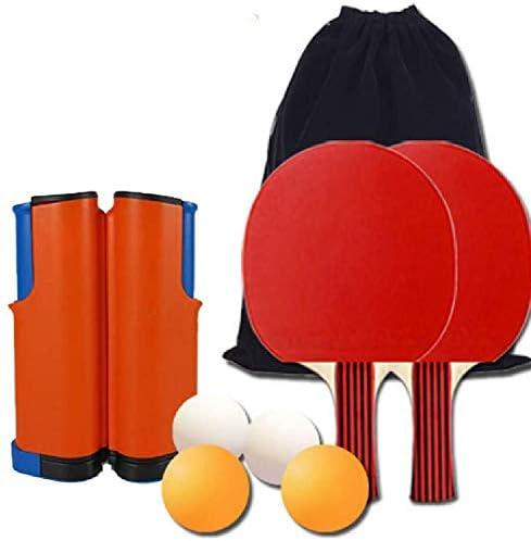 ポータブルピンポンセット格納式卓球ネット1格納式卓球ネット2卓球バット4卓球ボールとバッグ、無料収納バッグ