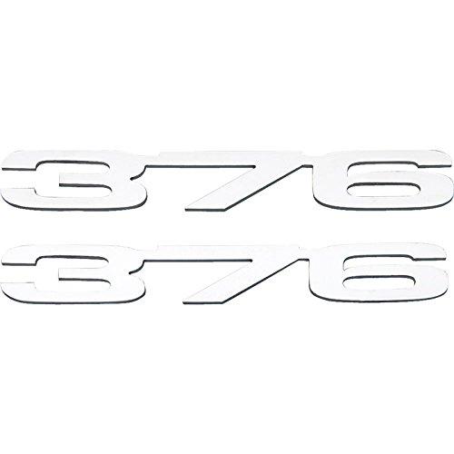 Eckler's Premier Quality Products 33-213508 Camaro Cowl Induction Hood Emblems, 376 (LS3), Stainless - Cowl Emblem