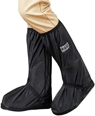 シューズカバー 防雨靴カバー乗馬屋外防水靴カバー防雨肥厚底アンチダーティ (色 : ブラック, サイズ : M)