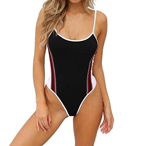 Fashion Costumi Donna push Bikini Adeshop bagno da 2018 Nero puro Tankini Reggiseno Big da Colore Impermeabile Size Costume Sling Chic imbottito up bagno Stripes dEqrtEwx58