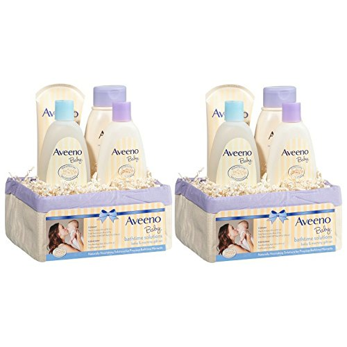 Aveeno Baby Daily Bath Time Solutions Gift Set To Prevent Dry Skin (2 Gift Set)