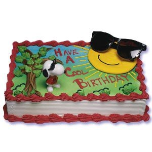 Amazoncom Peanuts Joe Cool Party Cake Topper Set Toys Games