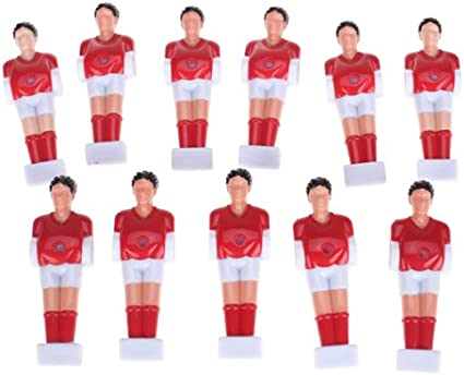 FLAMEER 11 Piezas de Jugador de Futbolín de Mesa Suministros de Deportes Repuesto de Juegos de Practicá Color Rojo: Amazon.es: Juguetes y juegos