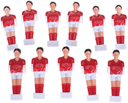 11pcs Futbolín Hombre Chicos De Mesa Hombre Futbolista Parte - Rojo: Amazon.es: Deportes y aire libre