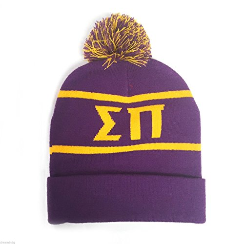 Sigma Pi Fraternity Letter Winter Beanie Hat Greek Cold Weather Winter Officially Licensed