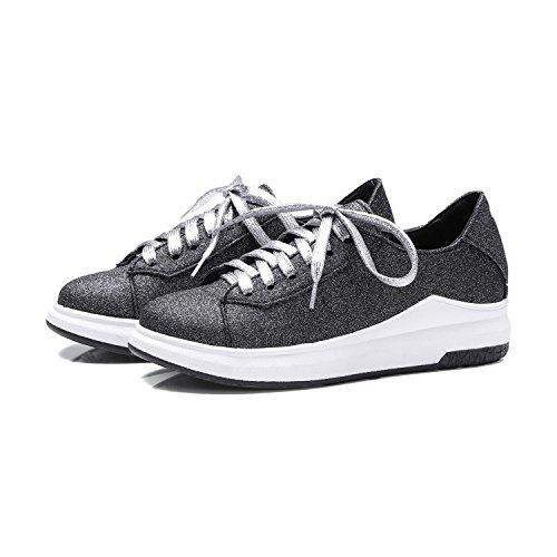 Gruesos Tamaño Zapatos De CSDM Planos Casual Zapatos Blancos Grandes Deportivos Zapatos Grande Zapatos black Pequeños 4w1Iqz