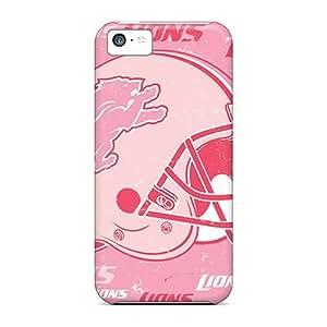 PhilHolmes Iphone 5c Shock Absorbent Hard Phone Cases Custom Nice Detroit Lions Pattern [aIa4723LHuR]