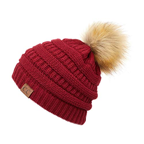 Hatsandscarf CC Exclusives Unisex Ombre Ribbed Confetti Knit Beanie with POM (HAT-43) ()