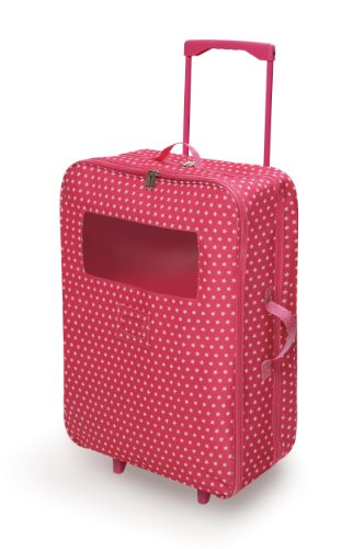 Badger Basket Double Trolley Doll Carrier with Two Sleeping Bags (fits American Girl dolls), Star -