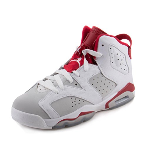 promo code 105f0 d86a7 Nike Jordan Kids Air Jordan 6 Retro BG White Gym Red Pure Platinum  Basketball Shoe 6 Kids US - Buy Online in UAE.   Apparel Products in the  UAE - See Prices ...