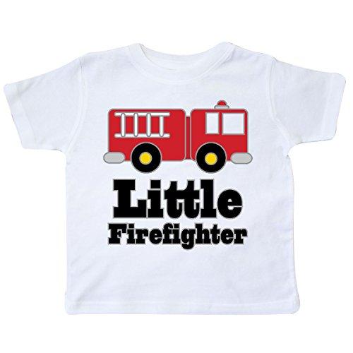 inktastic - Little Firefighter Fire Engine Toddler T-Shirt 4T White 1854f