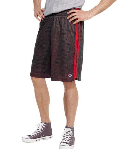 Court Basketball Shorts (Champion Men's Full Court Basketball Short, Crimson/Black,)