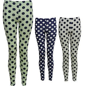7a85bf5e66b6d Chooice Boutique Womens Ladies Spotted Polka Dot Leggings Green  White,Cerise Blue Sm-Ml - Navy - M/L (10-12): Amazon.co.uk: Clothing