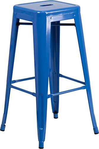 Indoor-Outdoor Seat Backless Blue