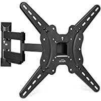 SIMBR TV Wall Mount Bracket for most 22-55 LED LCD Plasma Flat Screen Monitor, up to VESA 400x400mm and 110 lbs with Full Motion Tilt and Swivel Articulating Arm and Bubble Level