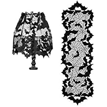 Heritage Lace Halloween Black Going Batty 4-Way and Table Runner Decorations