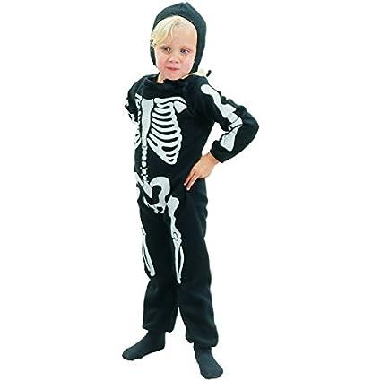 Disfraz de esqueleto para niño, ideal para Halloween: Amazon.es ...