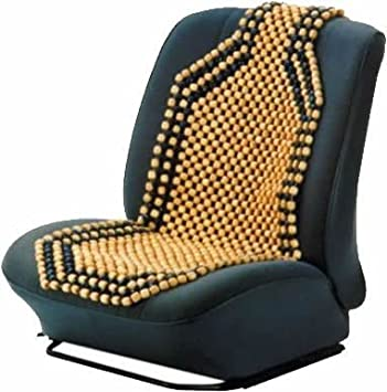 Quality Camel Coloured Wooden Beaded Car Seat Cover
