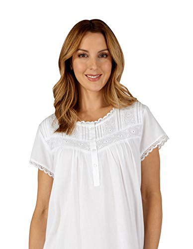 Loungewear Cotton Women's Slenderella Nd3260 Night Nightdress Woven Gown White T7gxaYwq