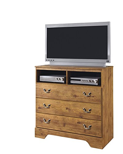 Ashley Bittersweet Media Chest in Light Brown by Ashley Furniture