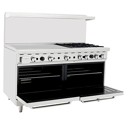 CookRite Commercial Natural Gas Range 4 Burner Hotplates With 36