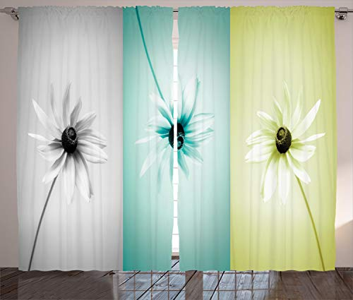 Used, Ambesonne Abstract Curtains, Daisy Flowers in Different for sale  Delivered anywhere in USA
