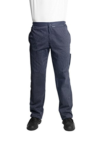 Bragard Miami Imported Chef Pants Pin-Stripe Cotton Fabric - Black/White | Sizes 36 US | by Bragard
