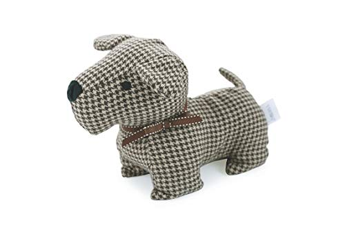 Galileo House Door Stop Dog 23x13cm 1 kg Chess col. Brown, Polyester, Gold, Unique ()