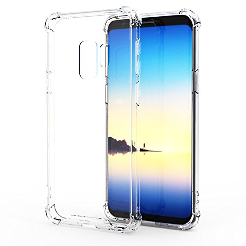 Galaxy S9 Plus Case, iBarbe Crystal Transparent Drop Defense Protection Slim Fit Shock Absorption TPU Cushion Cover with Reinforced Corners for Samsung Galaxy S9+ Plus 6.2 Inch 2018 Model (Waterfall Model Used)