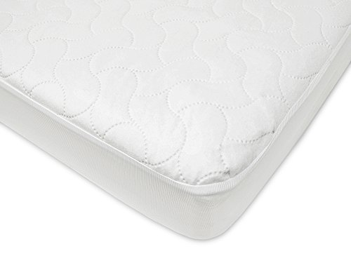 American Baby Company Waterproof Fitted Crib and Toddler Protective Mattress Pad Cover, White by American Baby Company