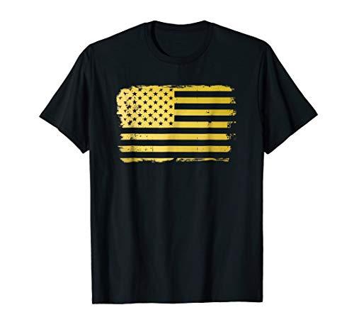 Gold Look American Flag T-Shirt | USA