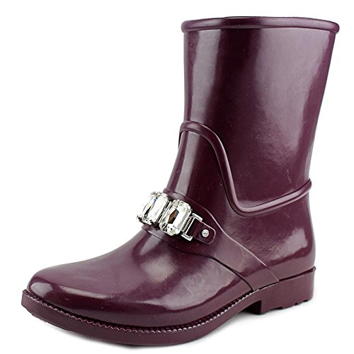 Toe Womens Rubber Calf Plum Michael Closed Leslie Mid Rainboots Kors PxpwqRA