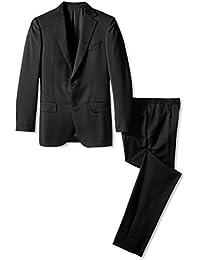Men's Solid Notch Lapel Suit