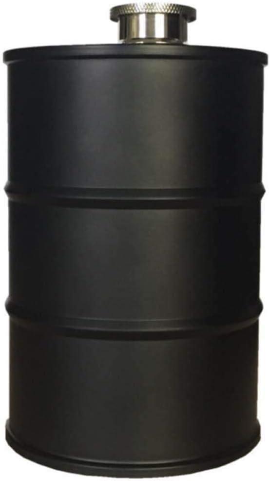 LQLQL Frasco de Cadera de Moda de Acero Inoxidable portátil al Aire Libre Barril de Cerveza de Viaje Barril de Aceite de Tanque de Vino Creativo, Negro
