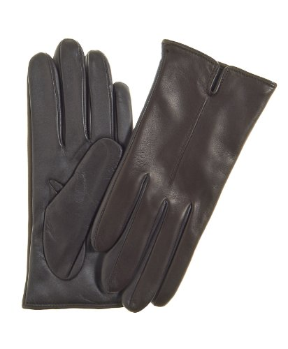 Fratelli Orsini Women's Touchscreen Italian Cashmere Lined Leather Gloves Size 7 Color Dark Brown