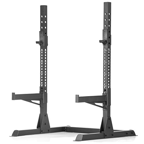 XMark Multi-Function Adjustable Squat Rack, Weight Capacity 1,000 LBS, Commercial Grade