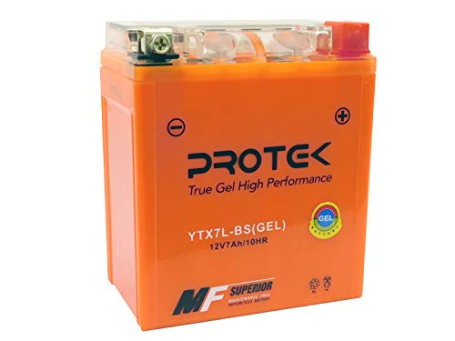 Protek YTX7L-BS YTZ8S YTZ8V 12V 7Ah Sealed AGM Gel Type Battery Maintenance Free For 2006-2014 Kawasaki KLX250S KLX250SF, 2008-2017 Kawasaki KLX140, 1994-1999 Suzuki DR350SE DR250S EP ER ES ()