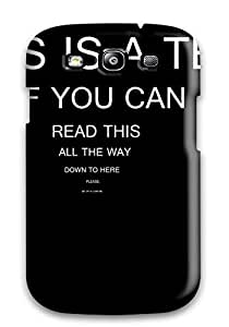 High-quality Durable Protection Case For Galaxy S3(typography Test) by lolosakes