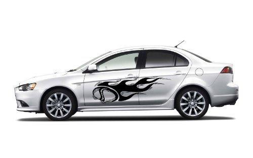 Vinyl Decal Mural Sticker Ball Flame Car For 2 Sides Car - Sidecar Ball