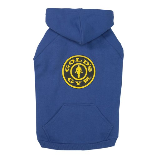 Gold's Gym Cotton Dog Hoodie, Small, Blue, My Pet Supplies